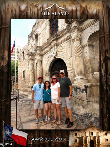 Photo taken at the Alamo, May 2017
