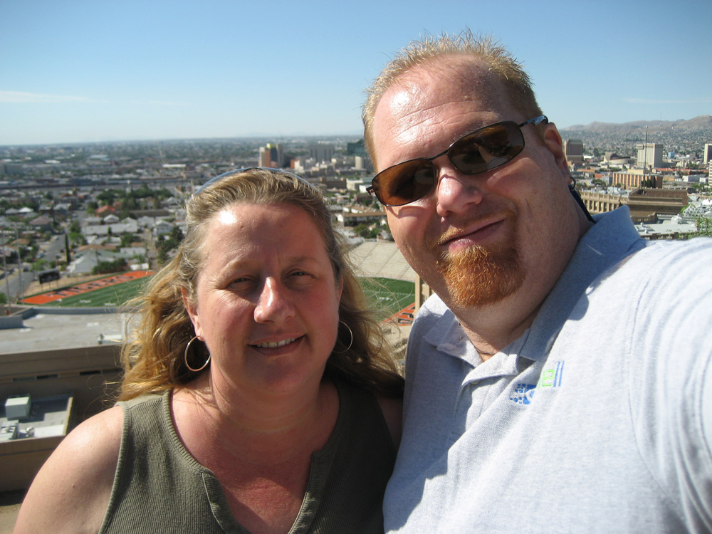 Photo of Fatman and wife taken in 2009