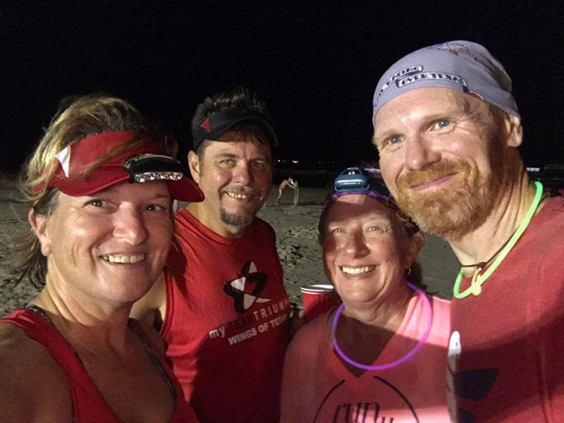 Michelle, Rusty, Sandy and yours truly after the Sand Crab Run