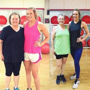 Bridget and Hilary Gym