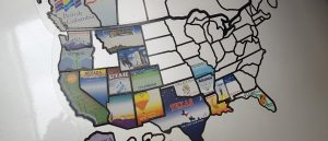 US map RV decal